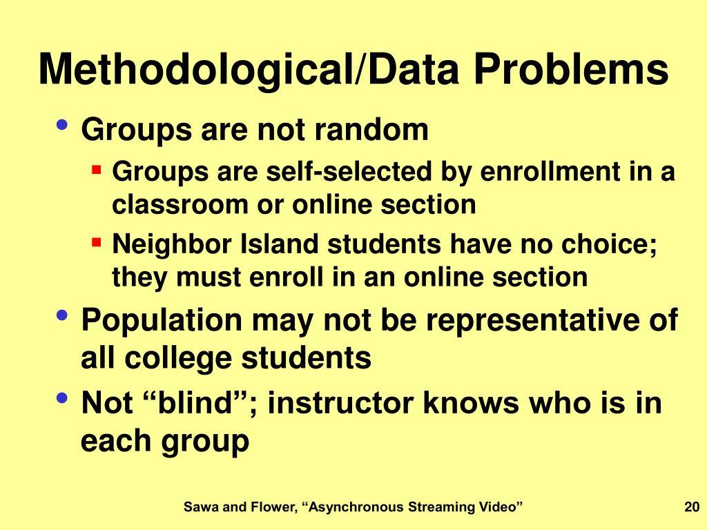 Methodological/Data Problems