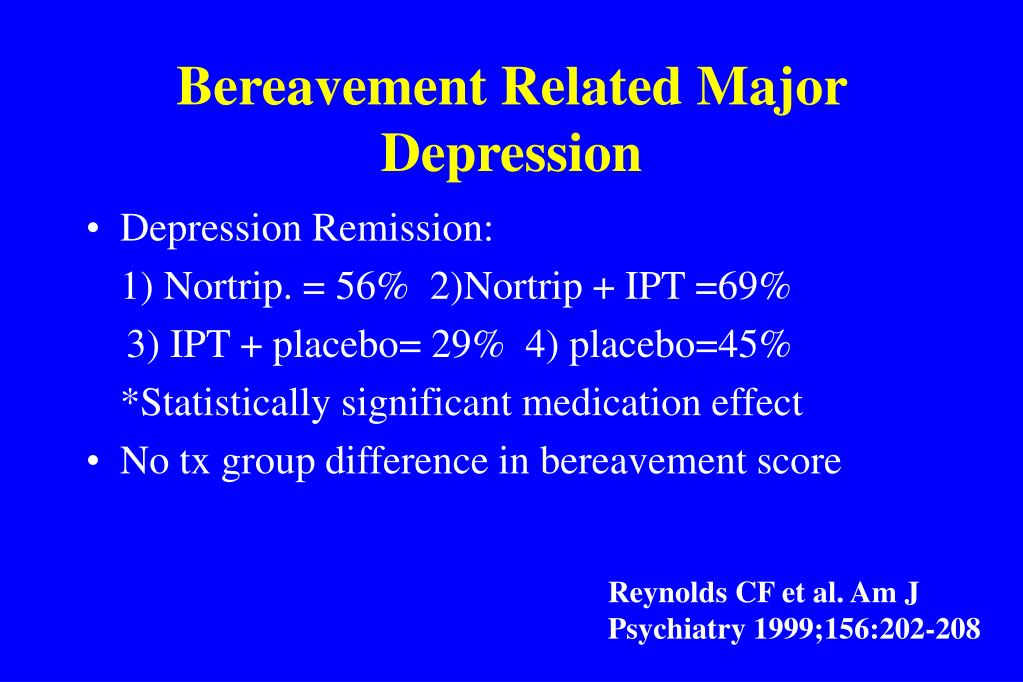 Bereavement Related Major Depression