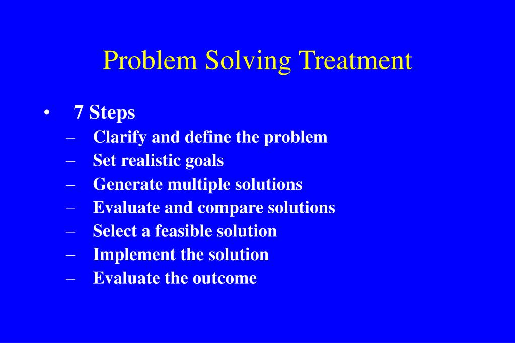 Problem Solving Treatment