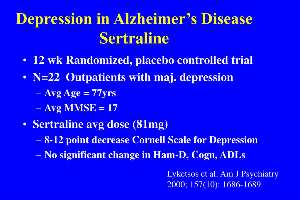 Depression in Alzheimer's Disease