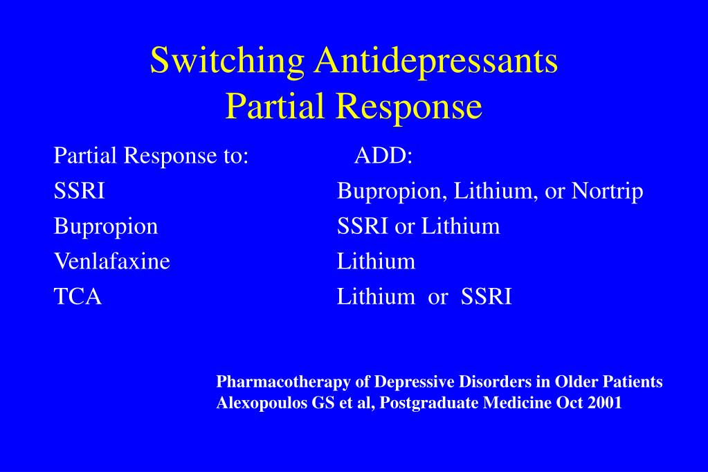 Switching Antidepressants