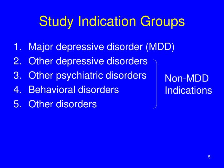 Study Indication Groups