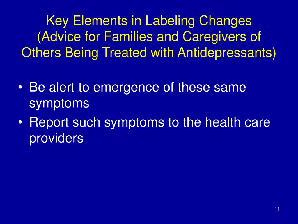 Key Elements in Labeling Changes