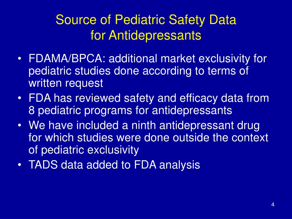 Source of Pediatric Safety Data