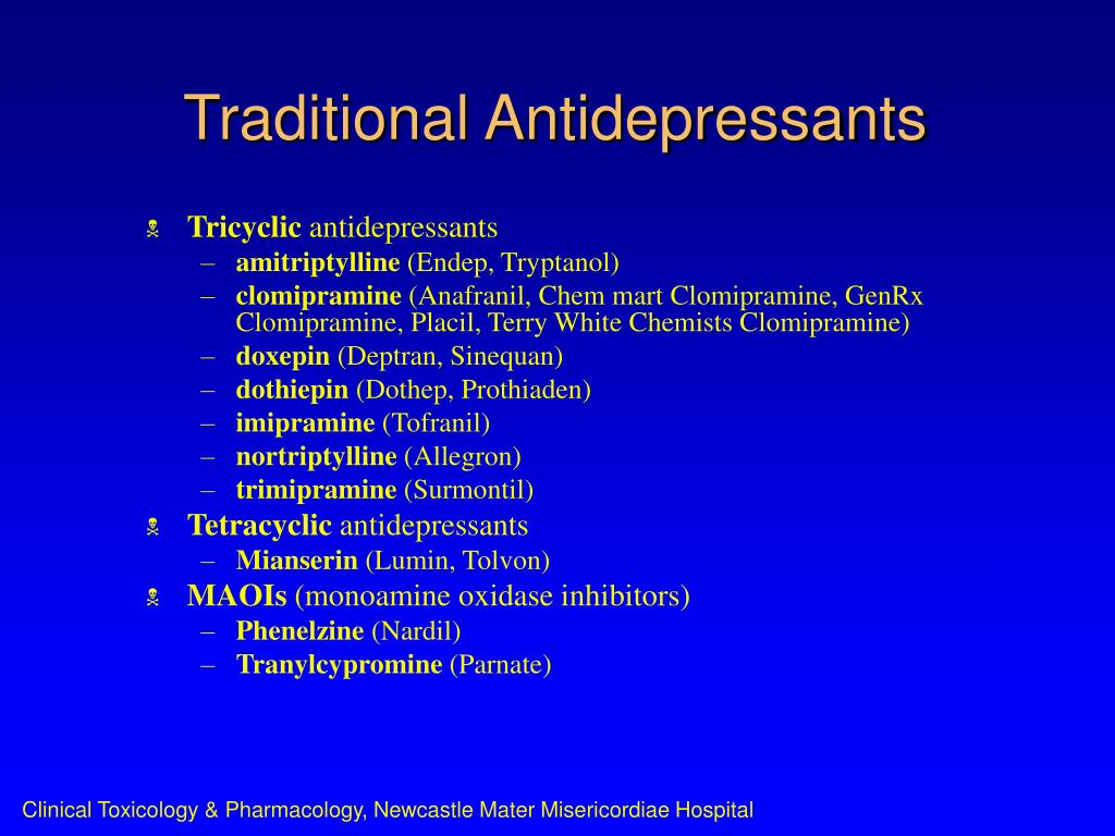 Traditional Antidepressants