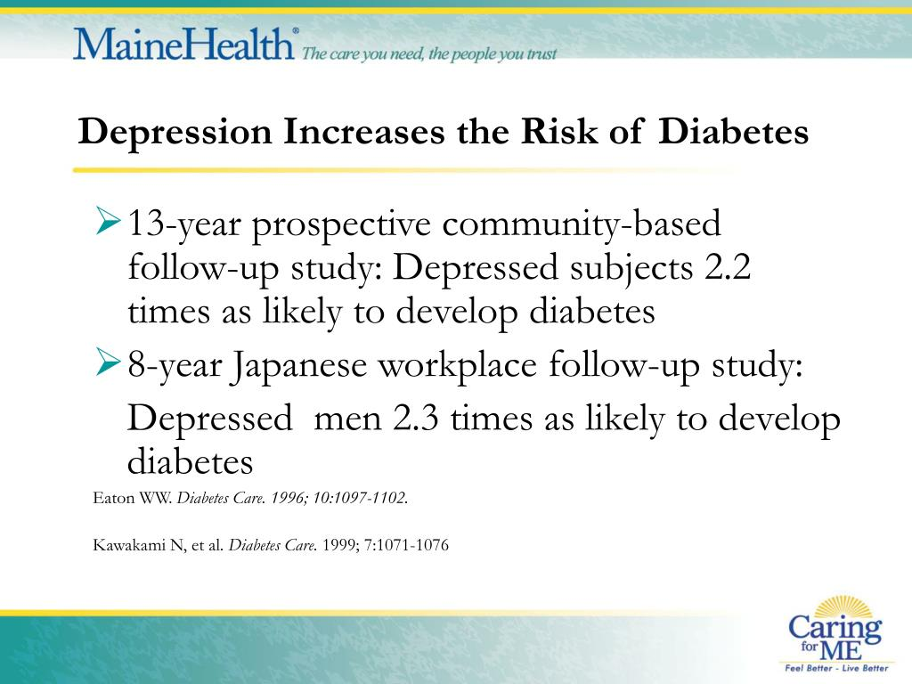 Depression Increases the Risk of Diabetes