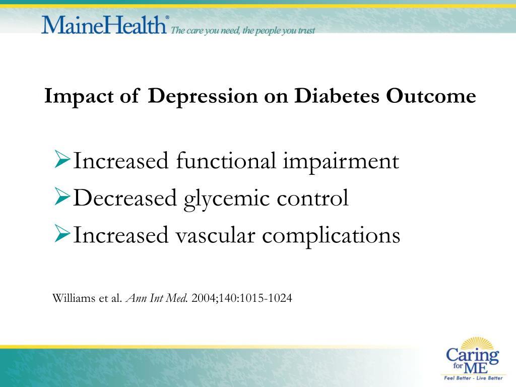 Impact of Depression on Diabetes Outcome