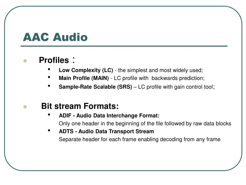 AAC Audio