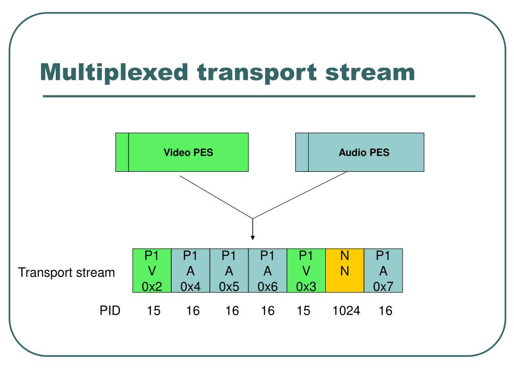 Multiplexed transport stream