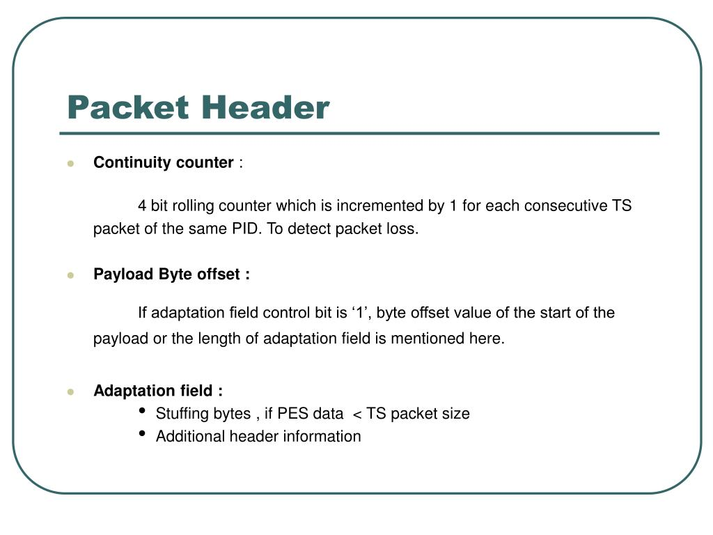 Packet Header
