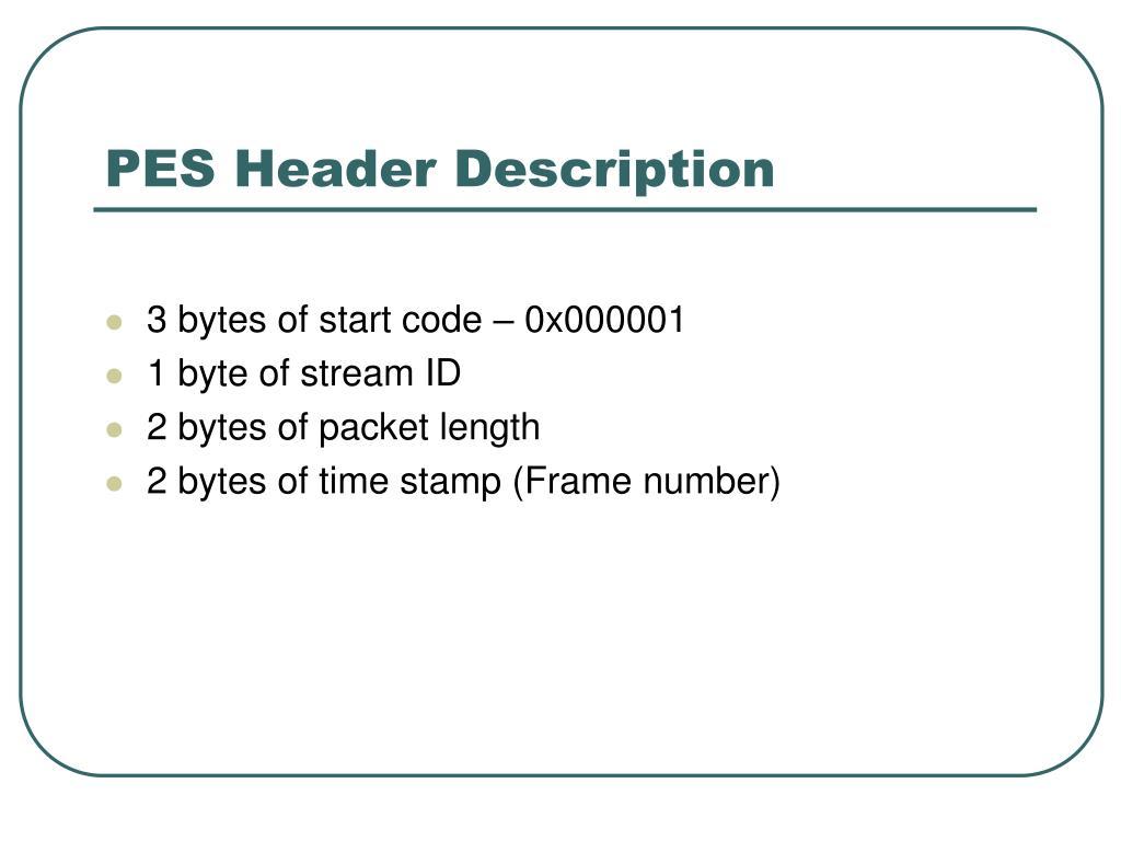PES Header Description