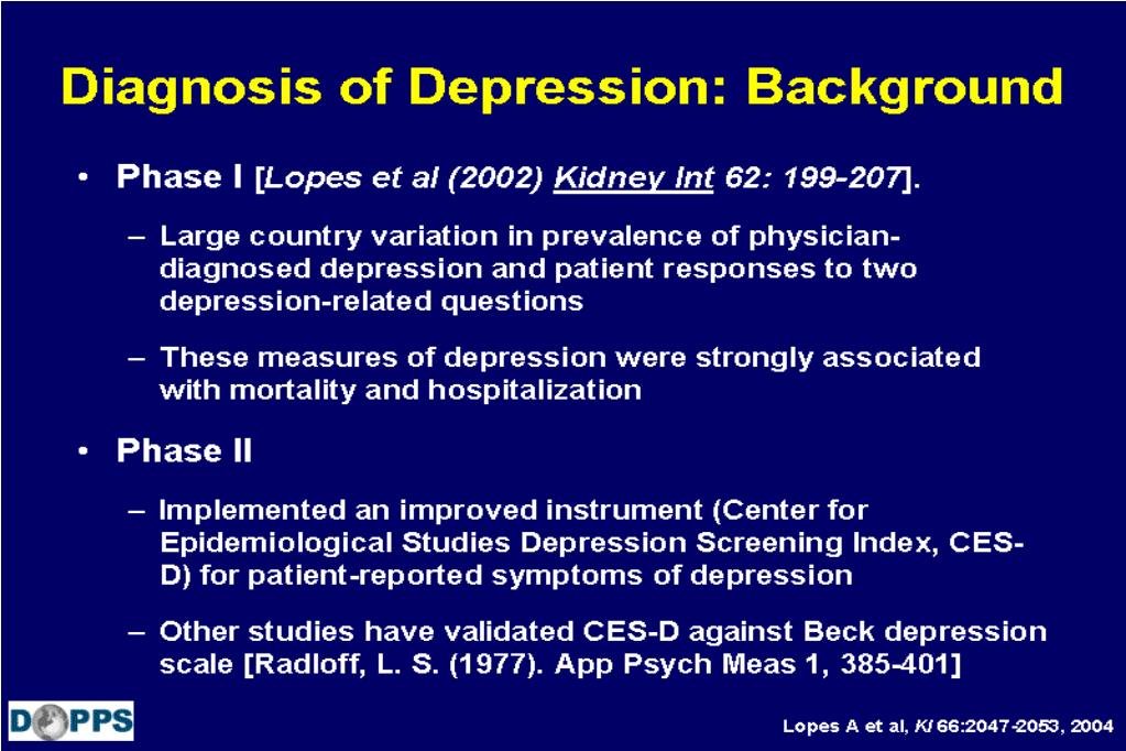Diagnosis of Depression: Background
