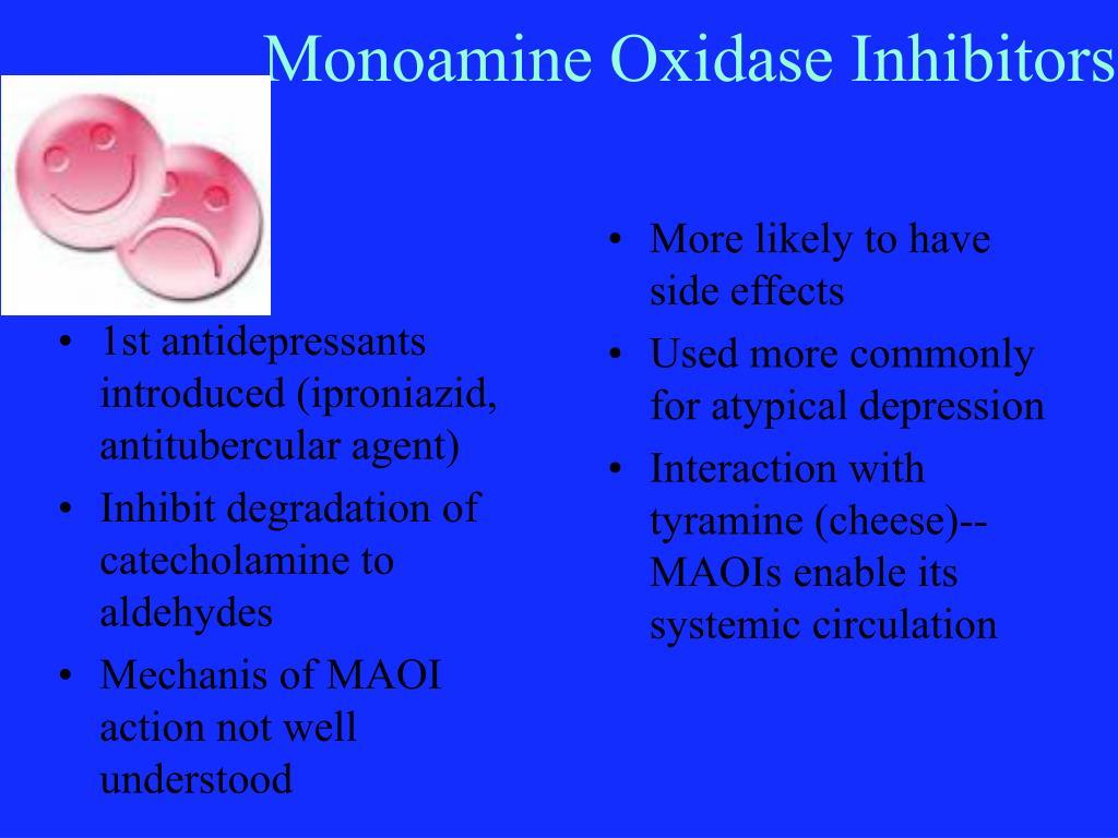 1st antidepressants introduced (iproniazid, antitubercular agent)