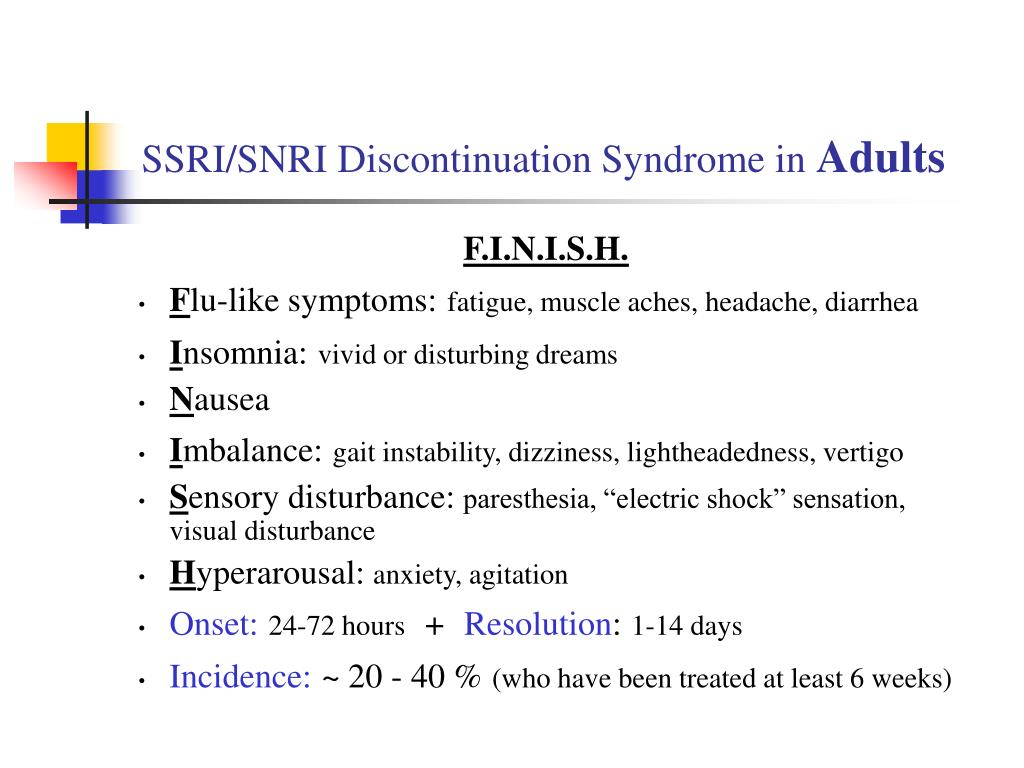Withdrawal Symptoms Of Ssri Discontinuation Syndrome – Fondos de