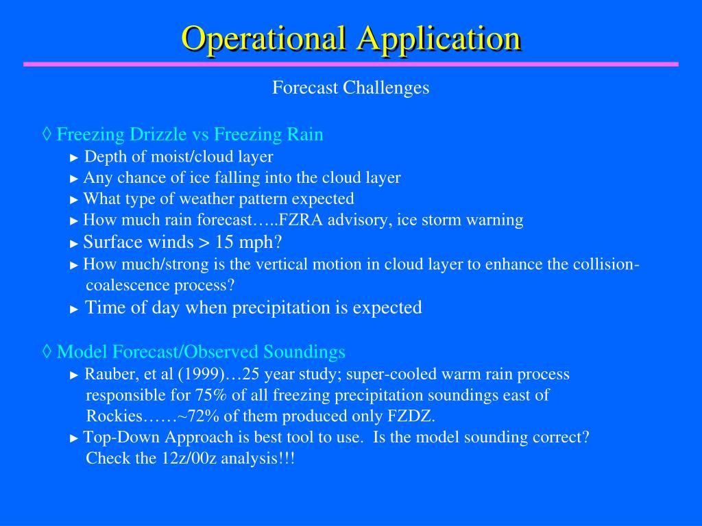 Operational Application