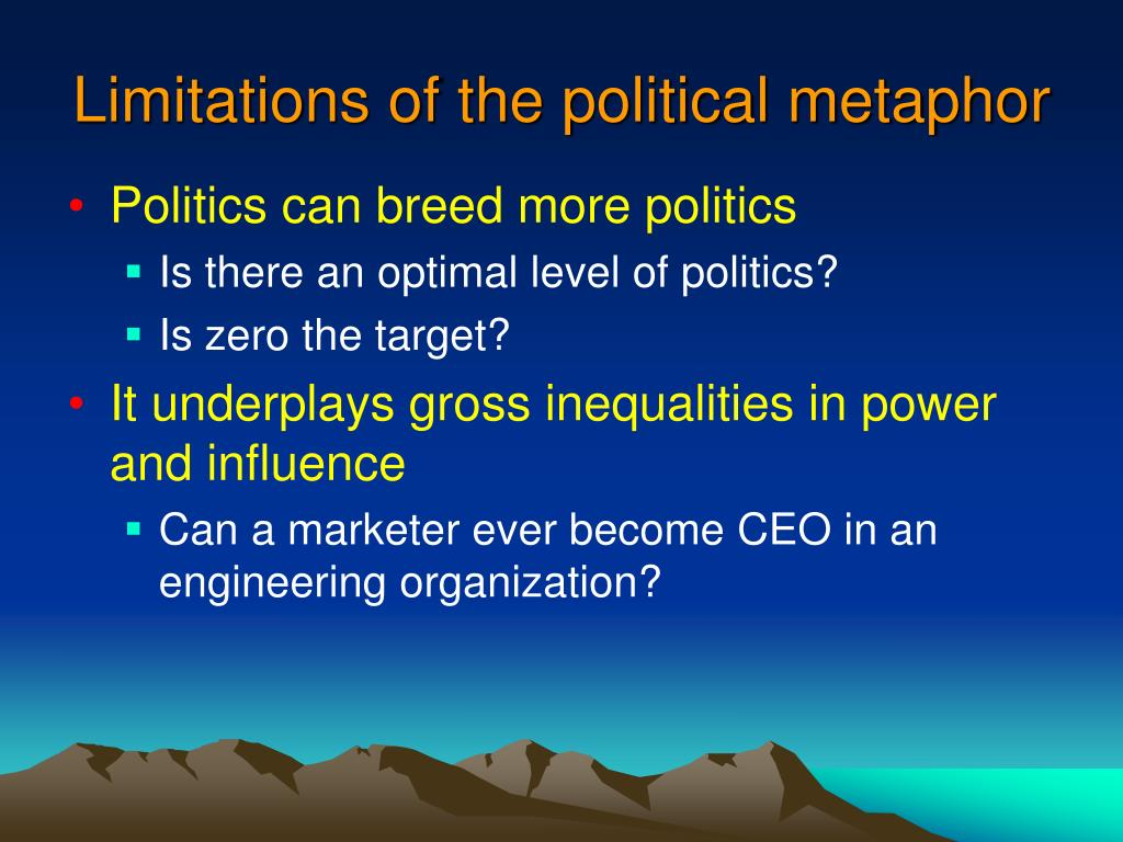 Limitations of the political metaphor