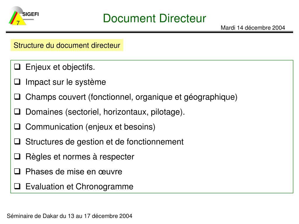 Document Directeur