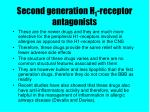 second generation h 1 receptor antagonists