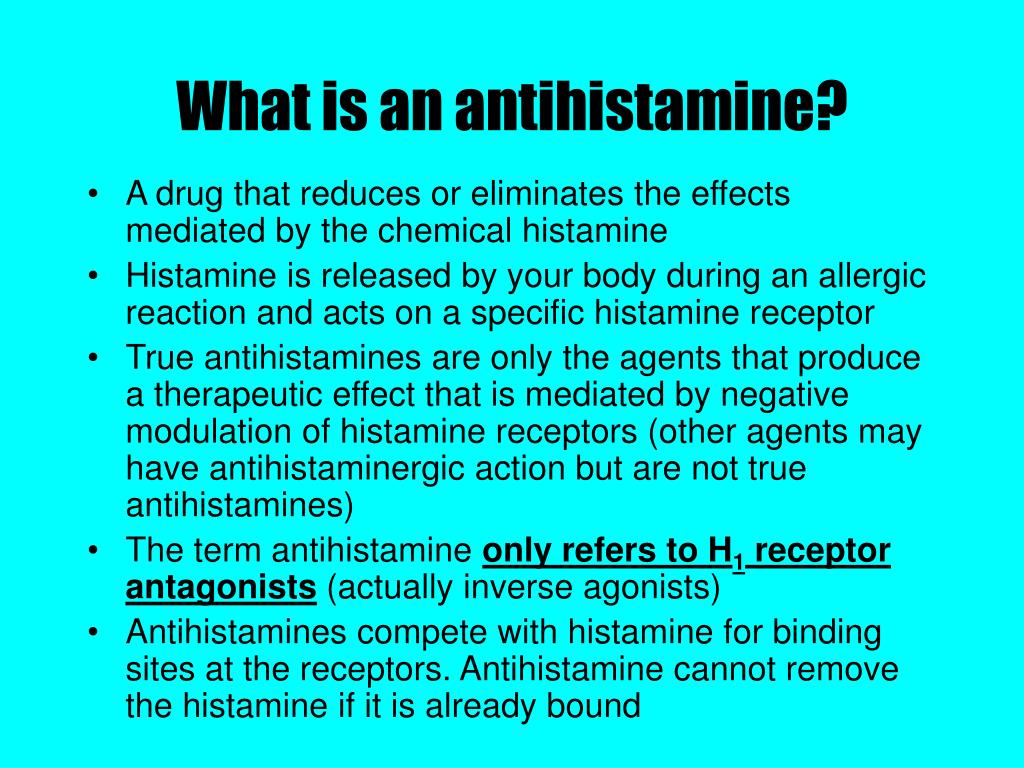 What is an antihistamine?