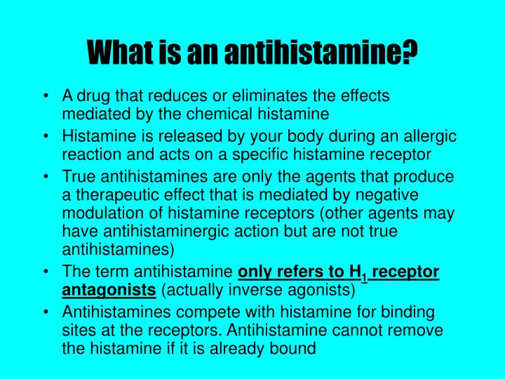 What is an antihistamine