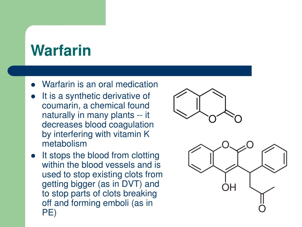 Warfarin Side Effects