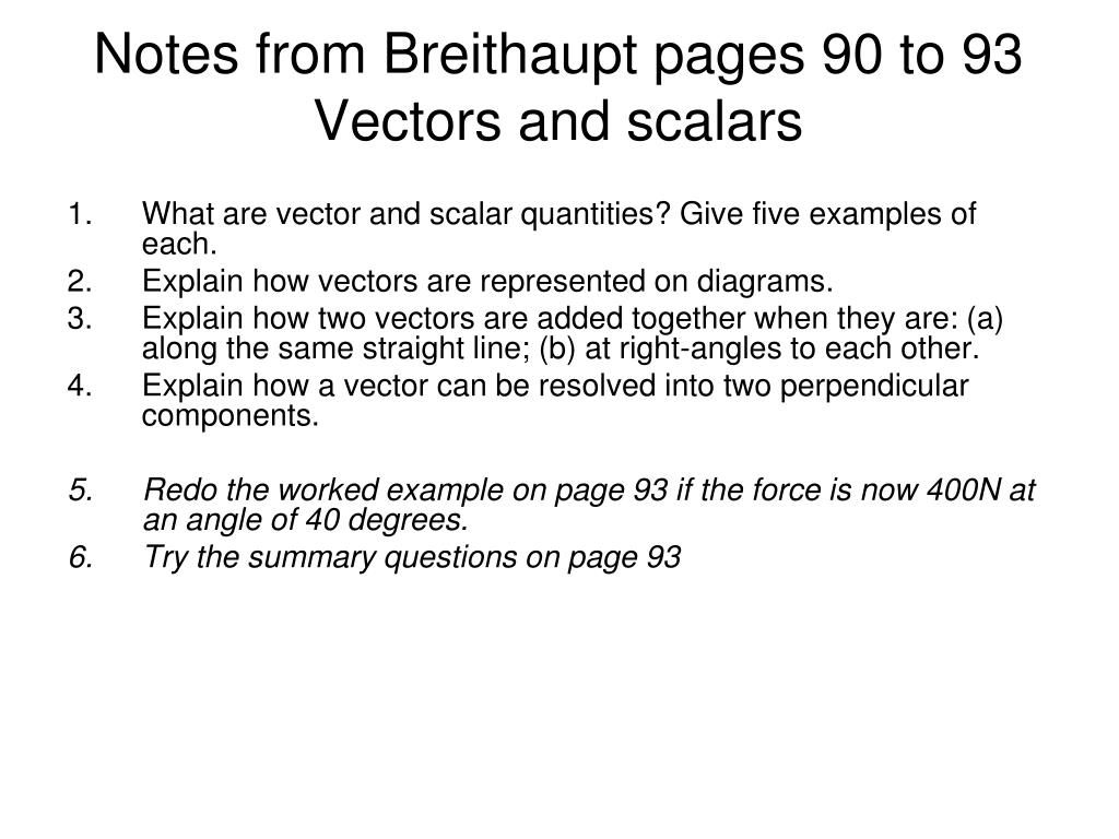 Notes from Breithaupt pages 90 to 93