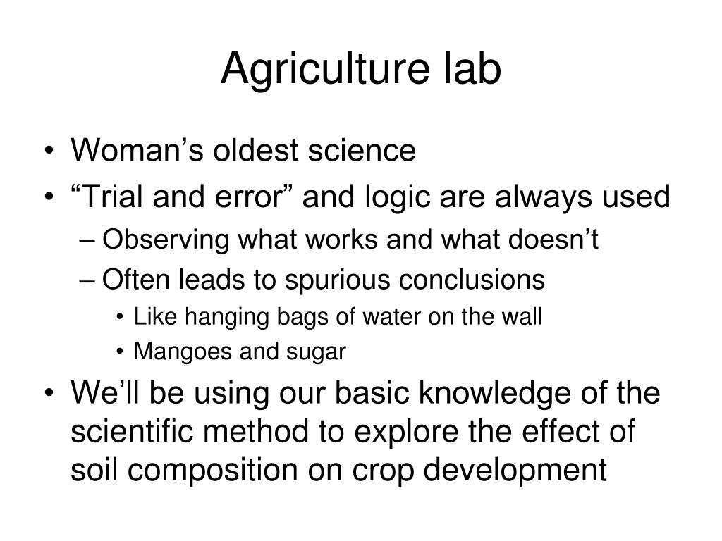 Agriculture lab