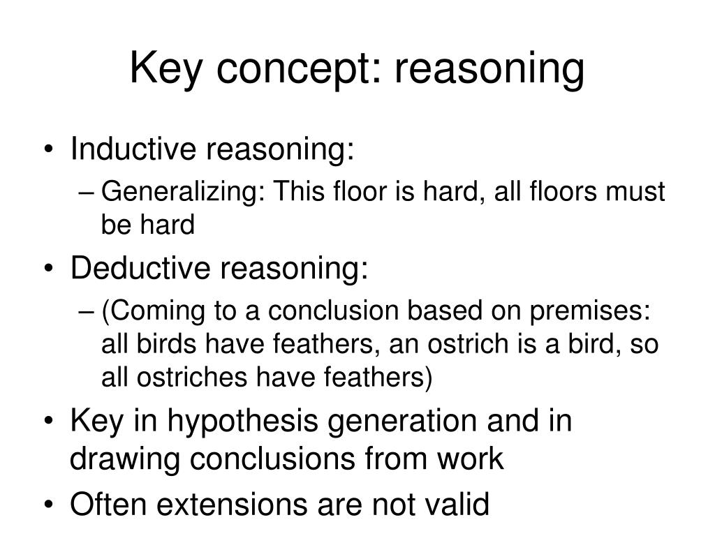Key concept: reasoning