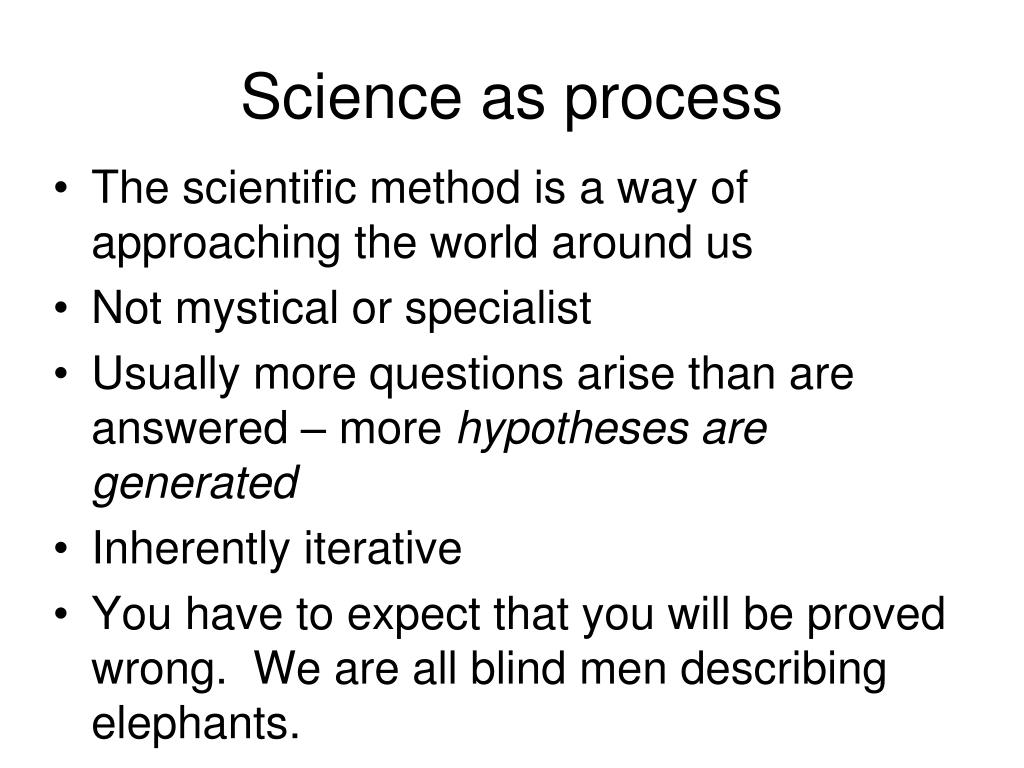 Science as process