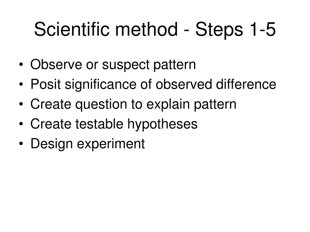 Scientific method - Steps 1-5