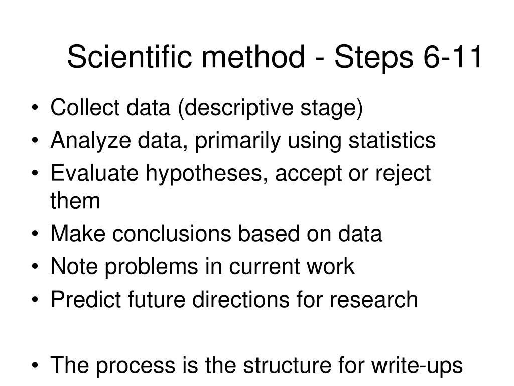 Scientific method - Steps 6-11