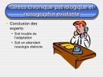 stress chronique pathologique et nosographie existante9