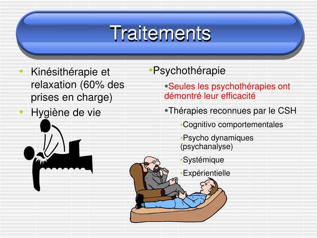 Kinésithérapie et relaxation (60% des prises en charge)