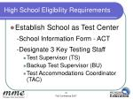 high school eligibility requirements