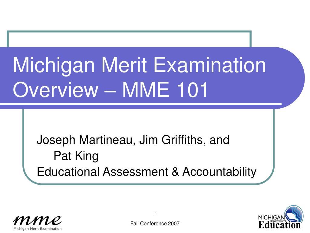 Michigan Merit Examination