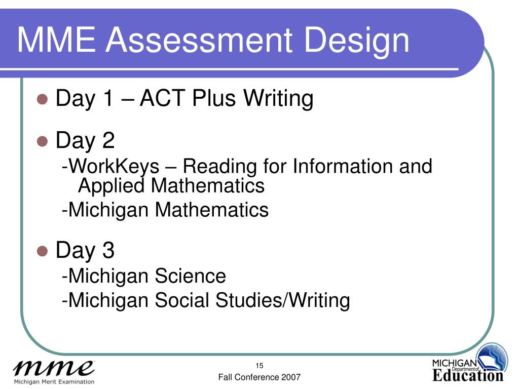 MME Assessment Design