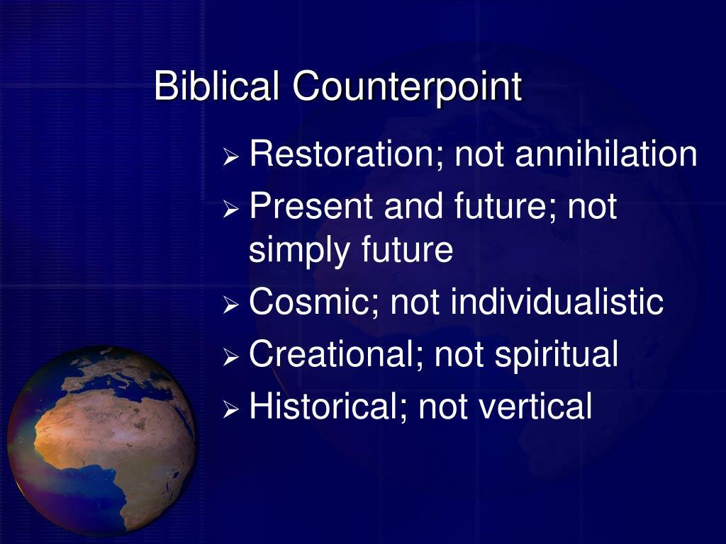 Biblical Counterpoint