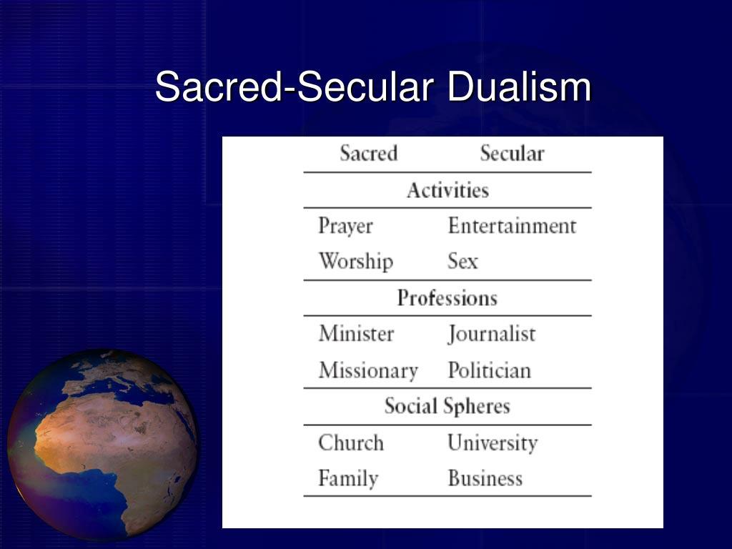 Sacred-Secular Dualism
