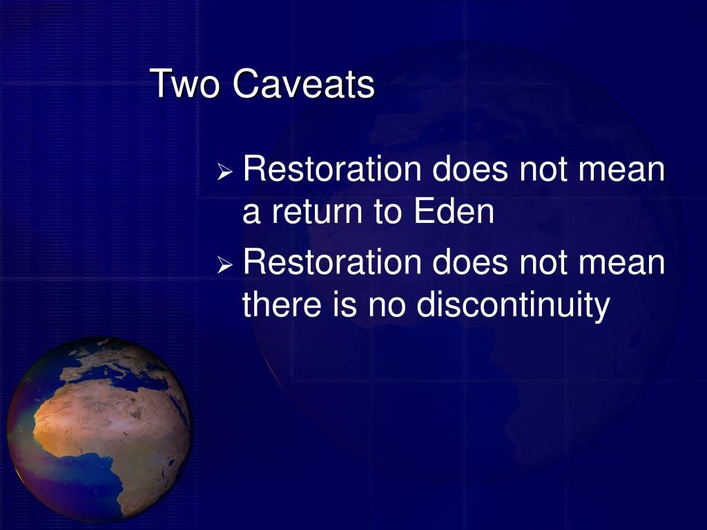 Two Caveats