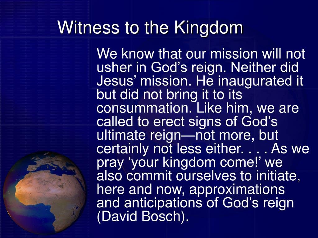 Witness to the Kingdom