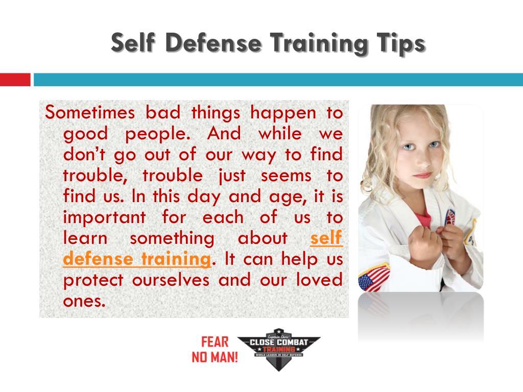 Self Defense Training Tips