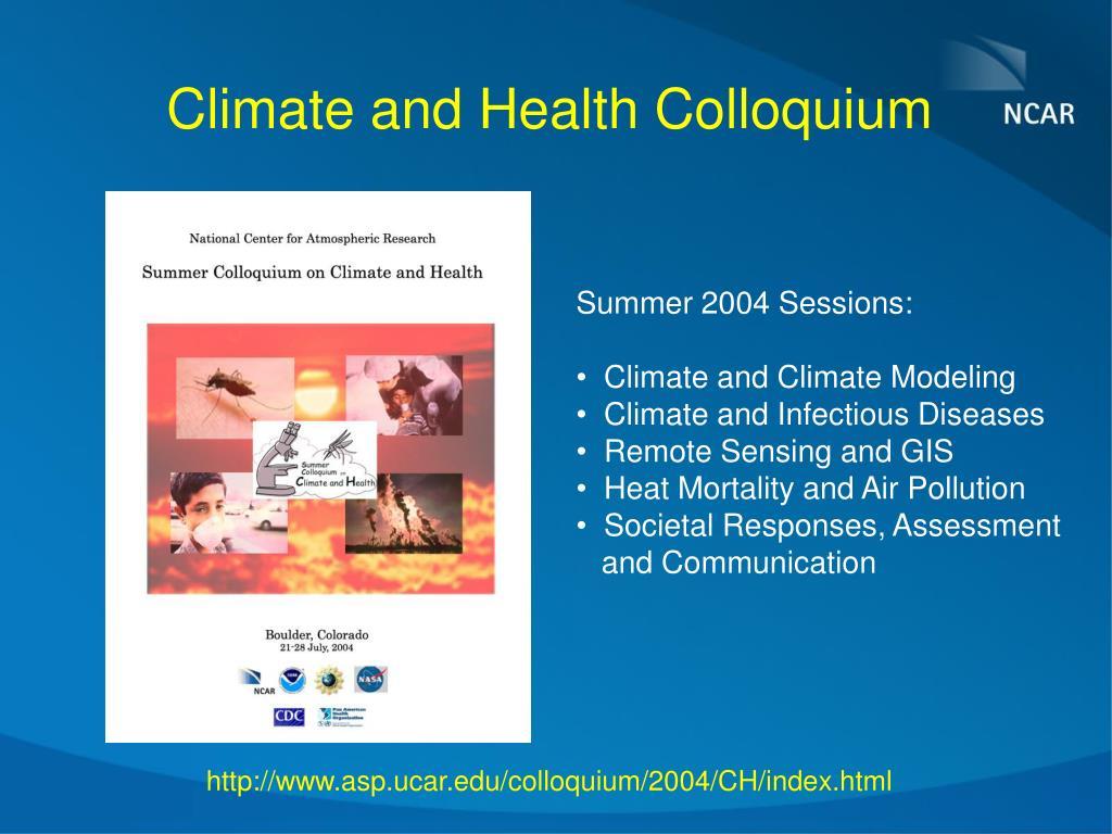 Climate and Health Colloquium