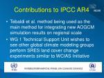 contributions to ipcc ar4