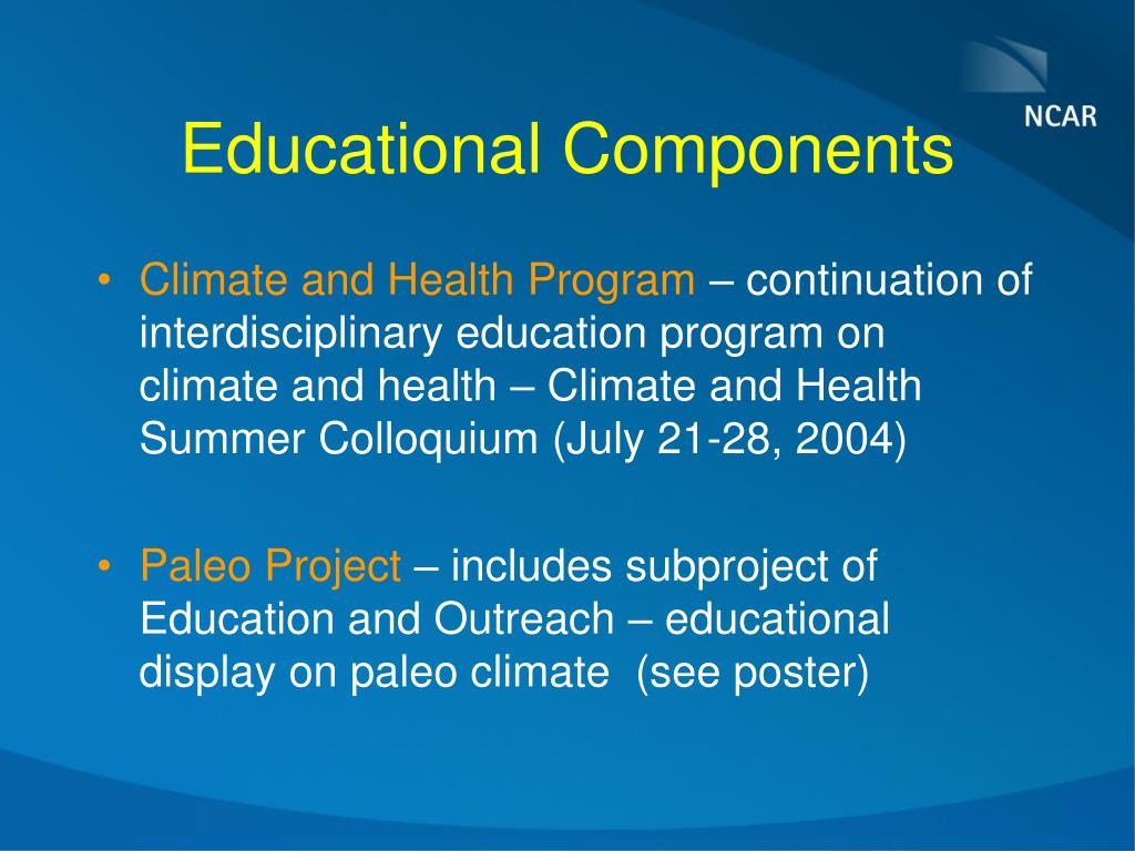 Educational Components