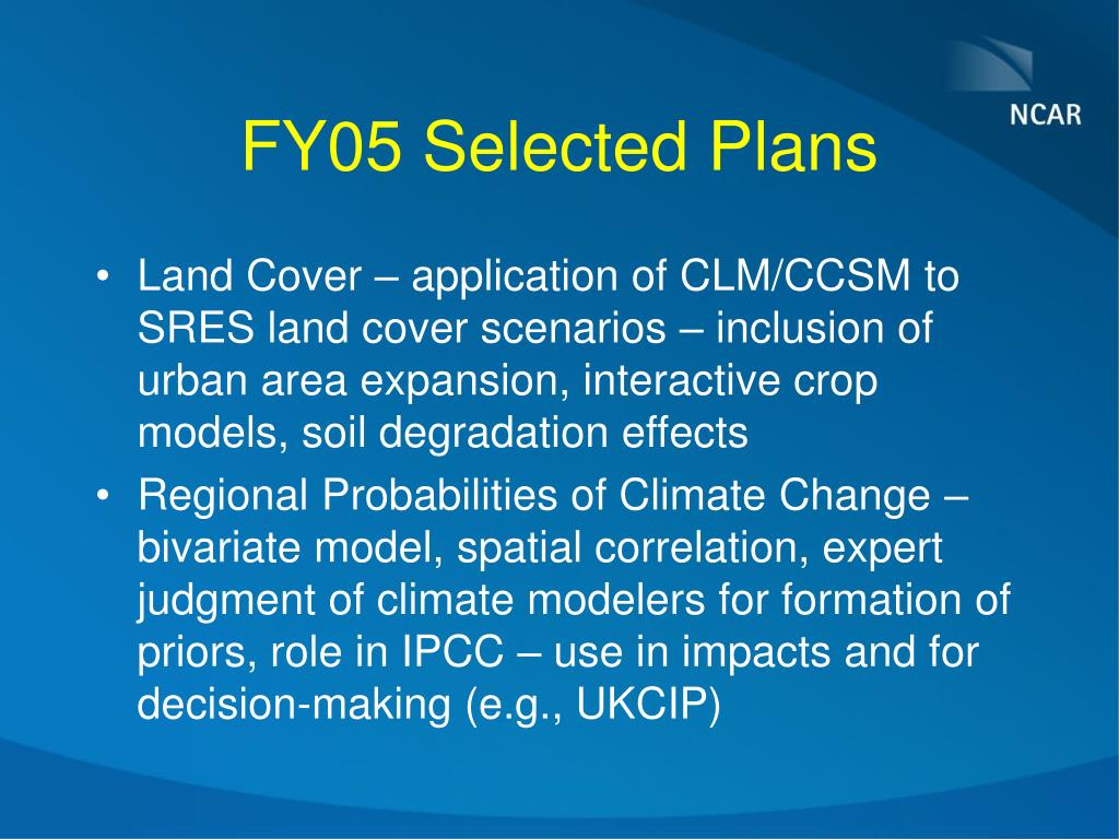 FY05 Selected Plans