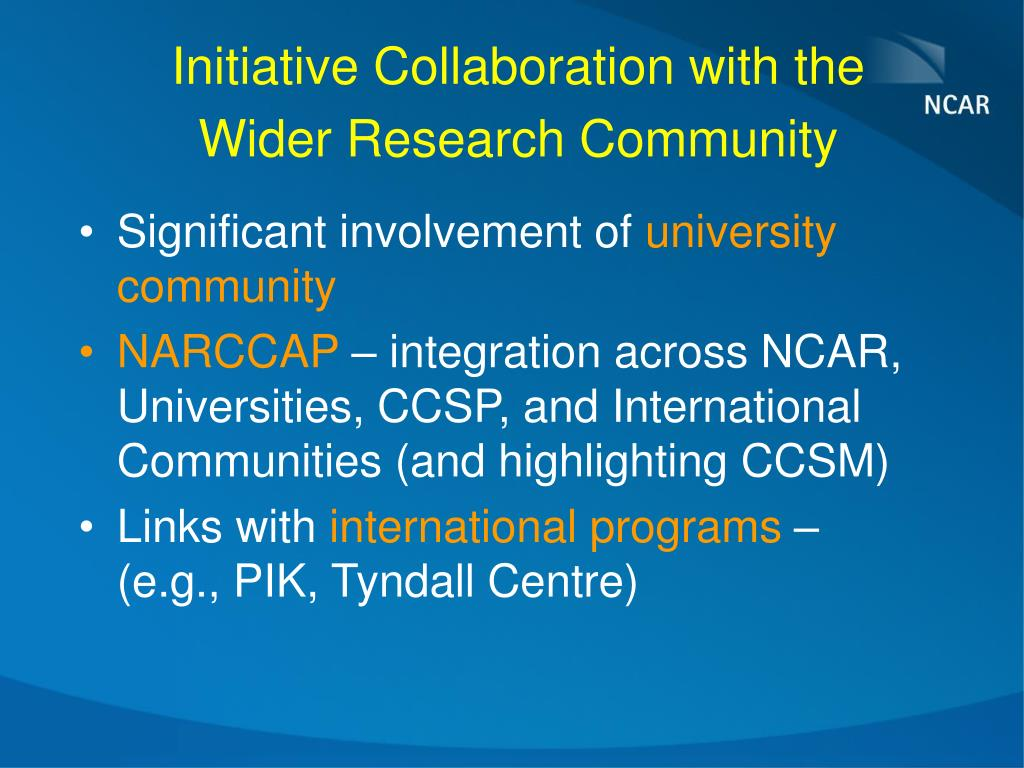 Initiative Collaboration with the