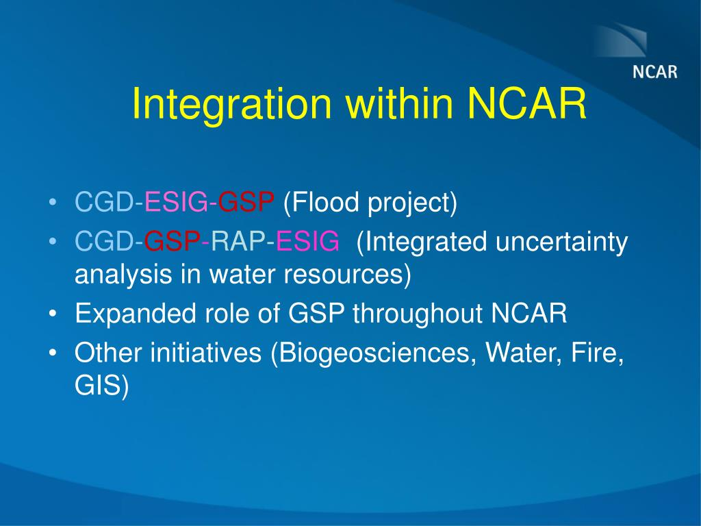 Integration within NCAR