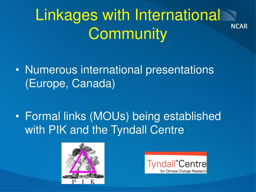 Linkages with International Community