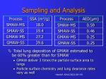 sampling and analysis19