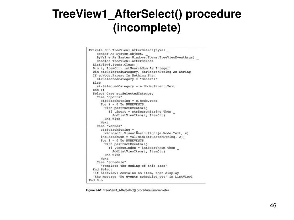 TreeView1_AfterSelect() procedure (incomplete)